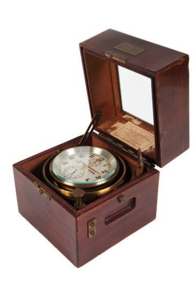 Chronomètre de marine Marque WEMPE. Deuxième...