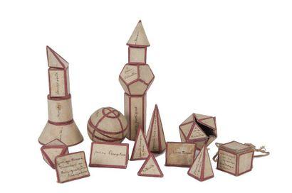 Boîte de modèle de figures géométriques Carton...