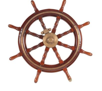 Barre à roue en acajou Début XXème siècle....