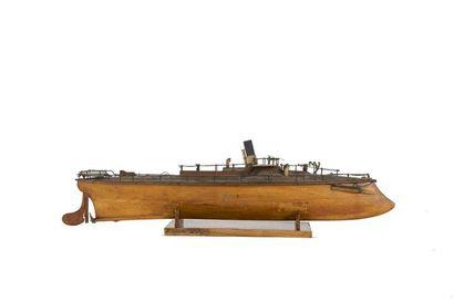 Maquette d'un torpilleur Fin XIXème siècle.