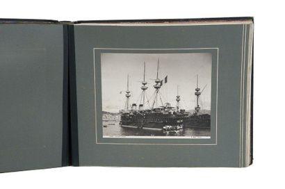 Alfred Noack (1833-1895) Photographe Vues de Gênes. Hommage à l'Amiral Barnaud. Bel...