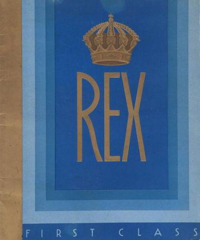 Brochure publicitaire du paquebot «Rex» Avec...