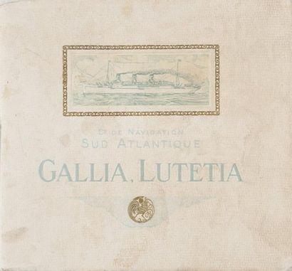 Brochure publicitaire de paquebot «Gallia...
