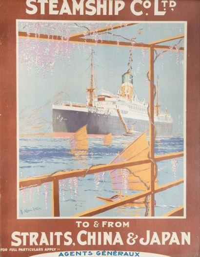 Affiche Steam Ship&Co Ltd. 64 x 49 cm