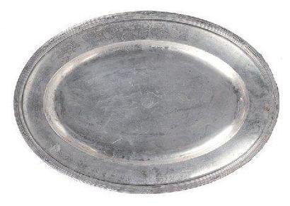 Plat ovale Métal argenté des messagerie Maritimes...
