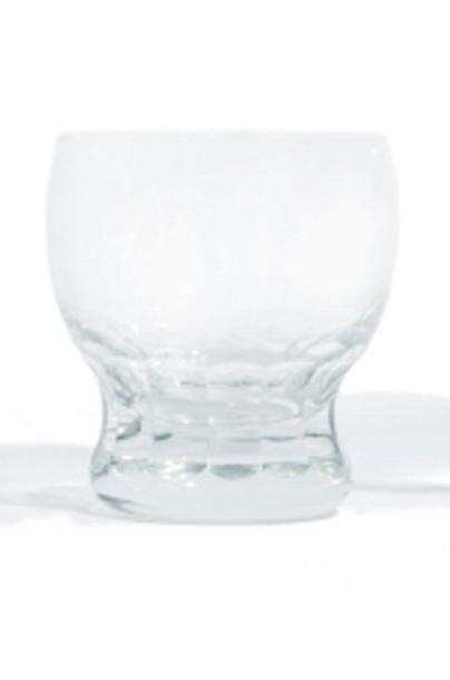 12 Verres à eau en cristal. Ancre gravée...