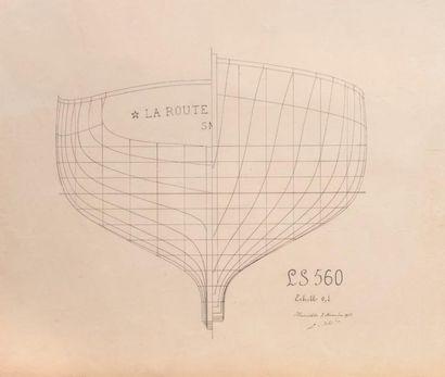 Coupe du bateau «La Route» type L.S. 560...