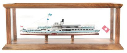 Maquette de bateau de lac «Blumlisalp» Sous...