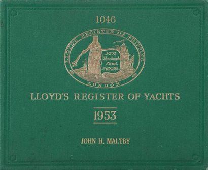 Lloyd's Register of yachts. 1953 John h....