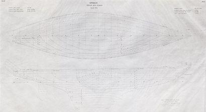 Plan de forme du bateau Giraglia par l'architecte...