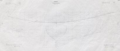 Plan de forme du bateau France par l'architecte...