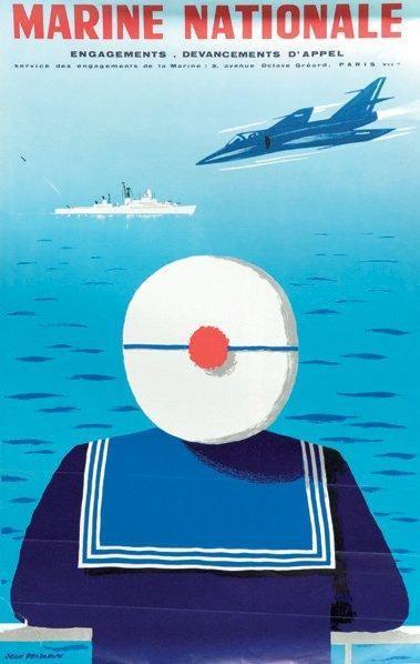 Affiche Marine Nationale. Engagez-vous. J.Desaleux....