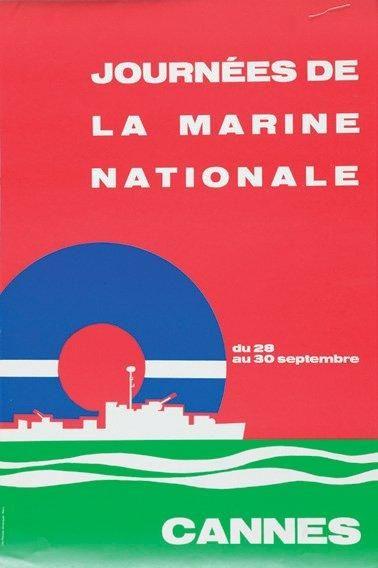 Affiche Journée Marine Nationale. Cannes....