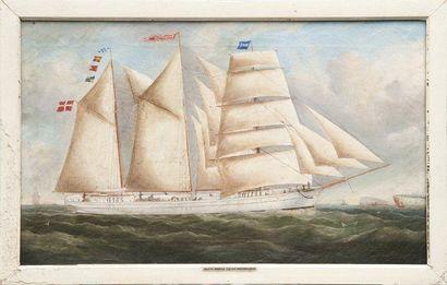 Giovanni LUZZO (XIX-XX) Brick «Brunhild». Huile sur toile. 48 x 79 cm