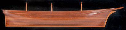 Demi-coque de trois-mâts Epoque XIXème siècle....