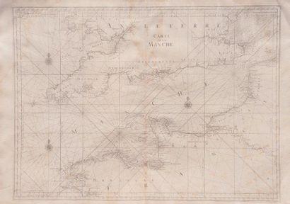 Carte marine de la Manche Epoque XVIIIème...