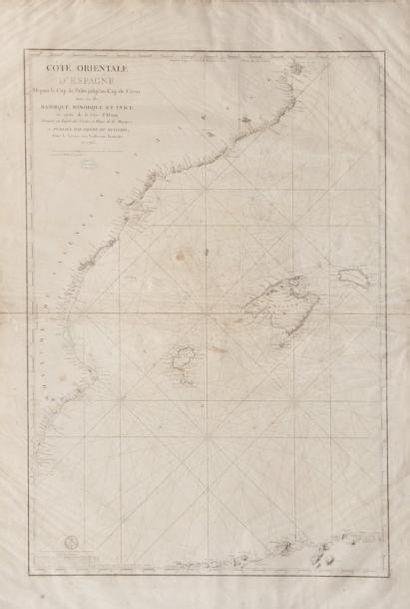 Carte orientale d'Espagne avec les Iles Majorque...