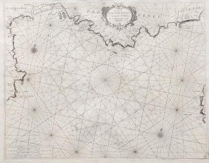 Carte maritime des côtes du Sud de la France...