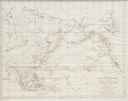 Carte de la mer du Pacifique Nord Venezia,...