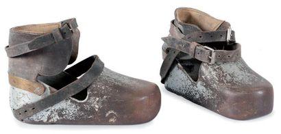 Paire de chaussures de scaphandrier