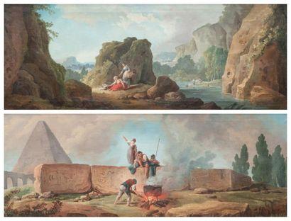 Hubert ROBERT (Paris 1733/1808)