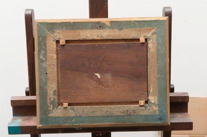 Louis NATTERO (1870-1915) Paysage. Huile sur panneau. Signée en bas à gauche. 20...