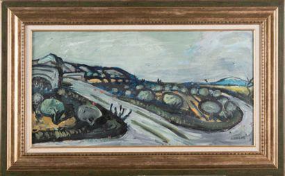 Auguste CHABAUD (1881-1955) La montée du pont de l?Arche et le Mont Ventoux. 1925....