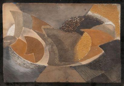 ALFRED RETH (1884-1966) Composition. Technique mixte. Signée en bas à droite. 35...