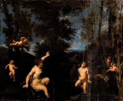 Ecole ITALIENNE du XVIIème siècle, <br>suiveur de Francesco l'ALBANE
