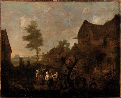 Ecole FLAMANDE du XVIIIème siècle, dans le goût de David TENIERS