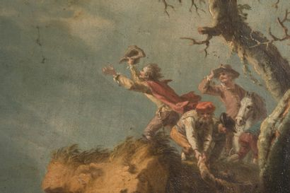 Ecole FRANÇAISE du XVIIIème siècle, suiveur de Philippe Jacques de LOUTHERBOURG Torrent...