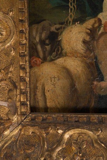 Ecole Française du XVIIIème siècle La Vierge et l'Enfant Jésus représentés sous les...
