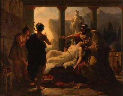 Merry Joseph BLONDEL (Paris 1781 - 1853) Alceste et Admète  Toile  128 x 160 cm  Signé...
