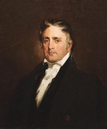 Attribué à Henry INMAN (1801-1846) Portrait de l'avocat Horace Binney  Sur sa toile...