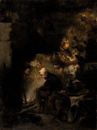 Célestin François NANTEUIL-LEBOEUF dit NANTEUIL (Rome 1813 - Marlotte 1873) Souvenirs...