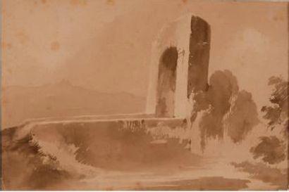 Artiste FRANÇAIS EN ITALIE, début du XIXe siècle
