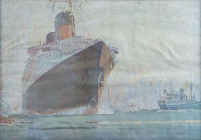 Compagnie Générale Transatlantique Le Normandie....