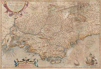 Carte géographique de la Provence par Bompario...