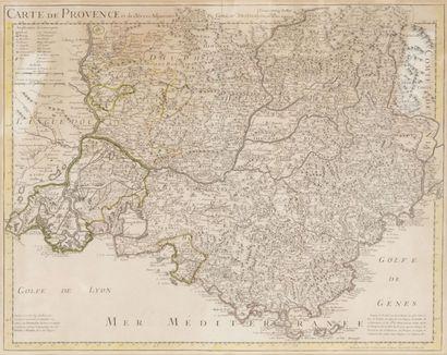 Carte géographique de la Provence par Delisle...