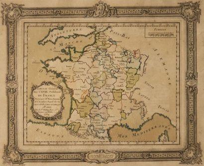Carte géographique de France par Rizzi Zannoni...
