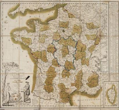 Carte géographique de France Atlas national...