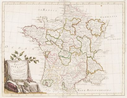 Carte géographique de France par Antonio...