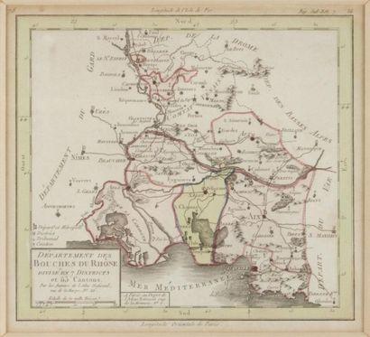 Carte des Bouches-du-Rhône XIXème siècle....