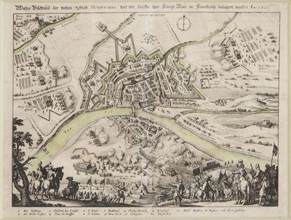 Plan de la ville de Montauban XVIIIème siècle...