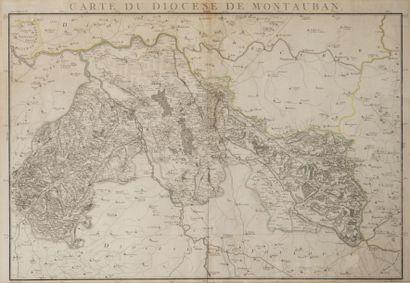 Carte géographique du diocèse de Montauban...