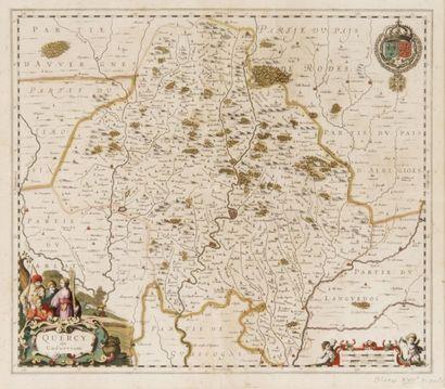 Carte géographique du Quercy par Blaeu XVIIIème...