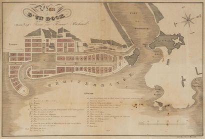 Plan du 1er projet de constructiondes docks...