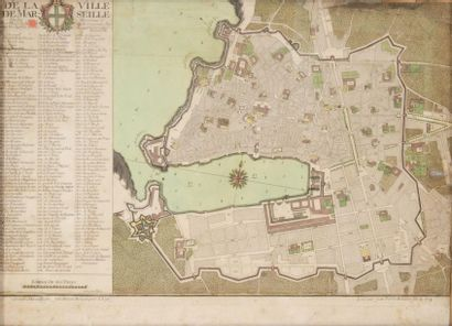 Plan de la ville de Marseille par Bresson...