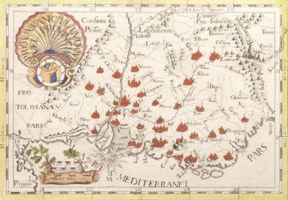 Carte de la Provence par Hondius Gravure....