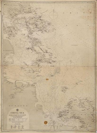Carte de la Mer de Chine. CHINA SEA banka...